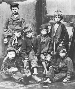 Destitute children typical admissions to Dr Barnardo's Home in 1